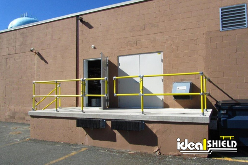 Ideal Shield's Steel Pipe & Plastic Handrail with Swinging Gates