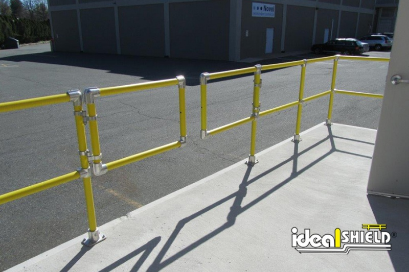 Ideal Shield's Steel Pipe & Plastic Handrail with Swinging Gate