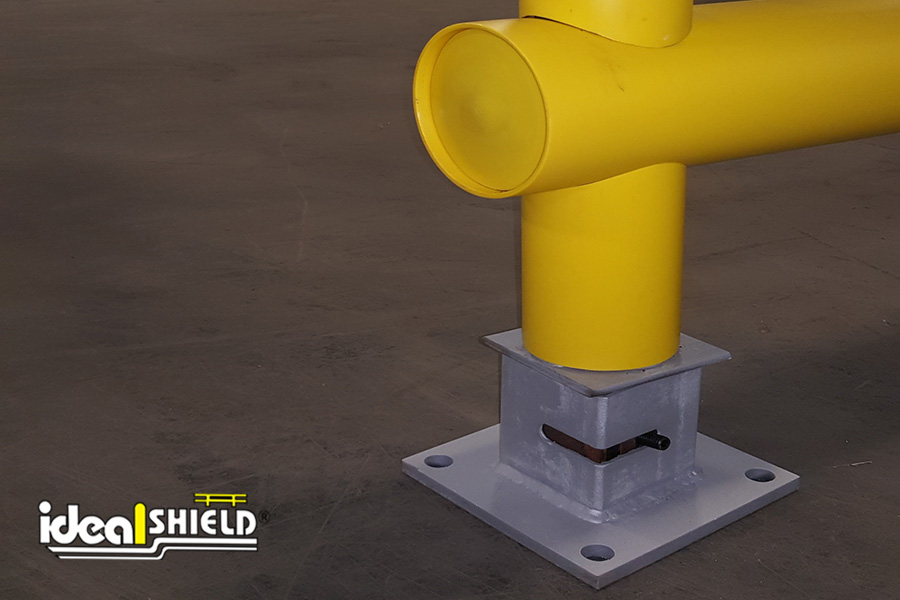 Ideal Shield's custom Heavy-Duty Guardrail footing