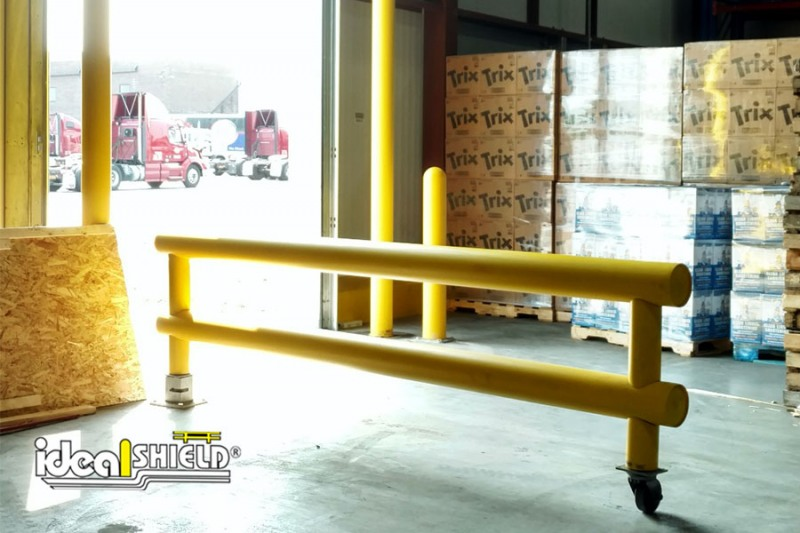 Ideal Shield's Custom Guardrail Swing Gate for Dock Door opening