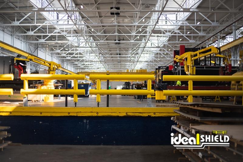 Ideal Shield's Custom Guardrail Swing Gates for Loading Area
