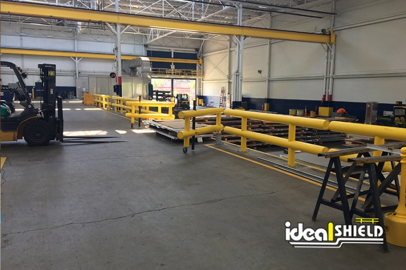 Ideal Shield's Custom Guardrail Swing Gates for Loading and Delivery Area