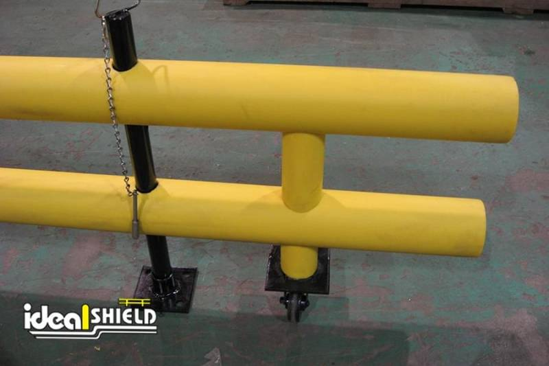 Ideal Shield's Standard Guardrail with Wheeled Gate and Locking Pin