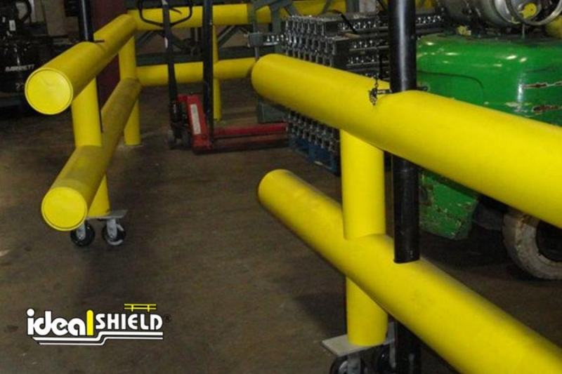 Ideal Shield's Guardrail System with Double Wheeled Gate Entry