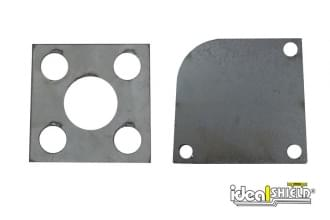 Custom cut steel base plates
