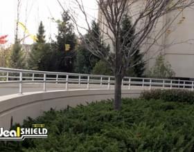 Aluminum Handrail Along Casino Entryway