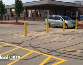 Bollard Sign Systems For Handicap Parking Spots