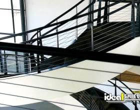Black Cable Handrail for Indoor Staircase