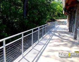 Cable Handrail for Outdoor Walkway