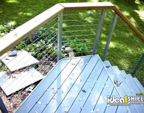 Cable Handrail for Outdoor Staircase