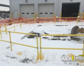 Roofrail system used for excavation hole protection 1