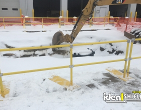 Roofrail system used for excavation hole protection 2