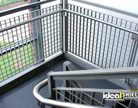 Steel Handrail Wire Caging for Staircase