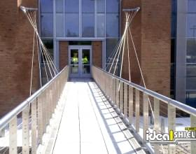 Steel Handrail for Suspended Walkway