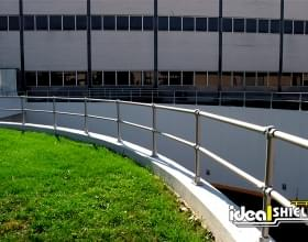 Steel Pipe And Plastic Handrail