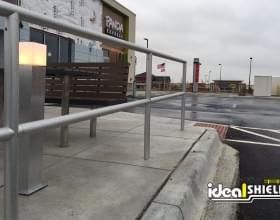 Panda Express Aluminum Handrail Sidewalk Protection