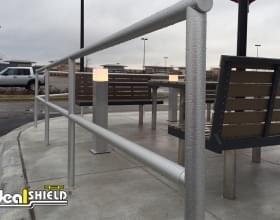 Aluminum Handrail Installed At Restaurant
