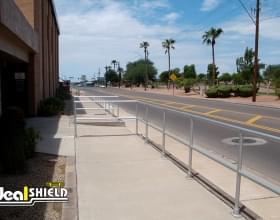 Fast Food Walkway Aluminum Handrail