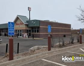 Ideal Shield's Bollard Sign Systems used for handicap accessible parking