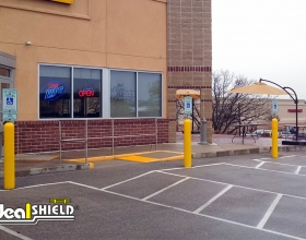Bollard Sign Systems enhance the appearance of your facility and reduce maintenance on parking lot signs.