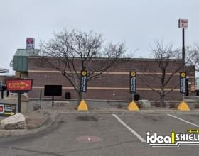 Ideal Shield's Pyramid Sign Bases used at McDonald's reserved parking spots