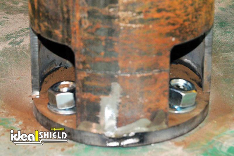 Close up of Ideal Shield's Hidden Base Plate Bollard