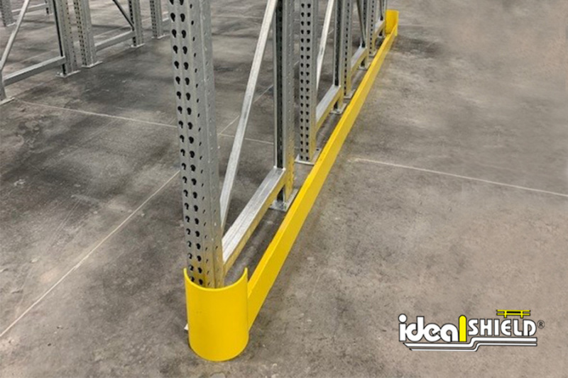 Ideal Shield's Steel Floor Guard for End of Rack Protection