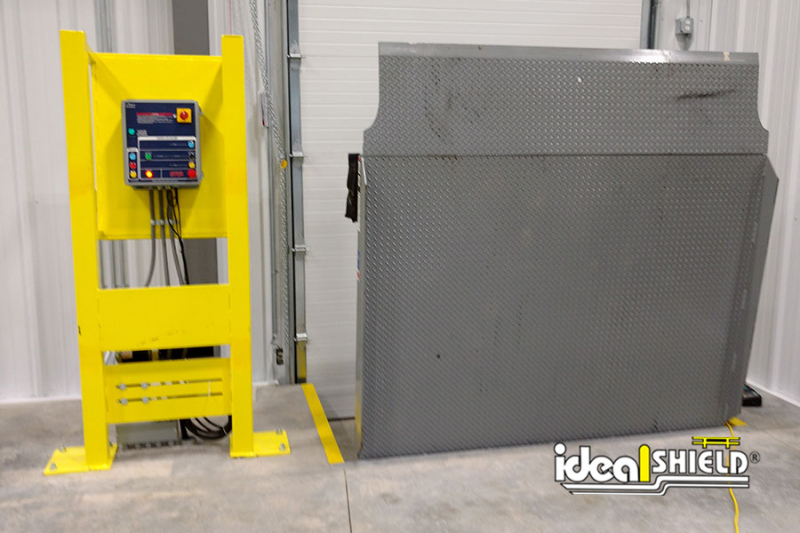 Ideal Shield's Vertical Lift Stanchion for Gear Box protection