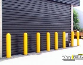 Yellow Bollard Cover Door Protection