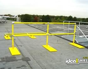 Yellow Roof Fall Protection Railing