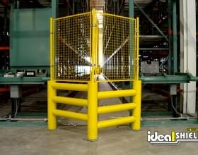Caged Guard Rail Protection System