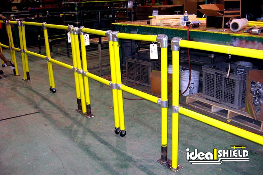 Ideal Shield Handrail - Fully Assembled Sections with Gate
