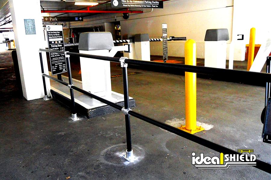 Railing Can Be Easily Installed to Keep Pedestrian and Vehicle Traffic Separate