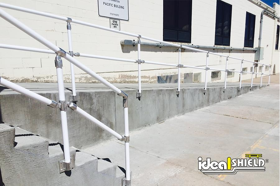 Ideal Shield - HRK Rail - Stairs and Slope White