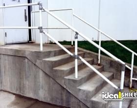 Side by Side Comparison - Ideal Shield Handrail to Welded Steel Rail