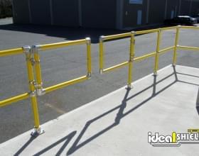 Steel Pipe & Plastic Handrail with Custom Swing Gate