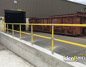 Yellow Steel Pipe and Plastic handrail