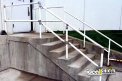 Side by Side Comparison - Ideal Shield Handrail to Welded Steel Rail