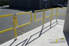 Steel Pipe & Plastic Handrail with Custom Swing Gate