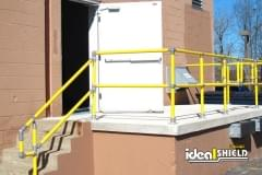 Steel Pipe and Plastic Handrail with Adjustable Fittings