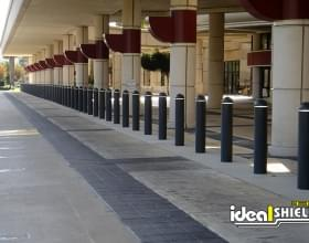 "1/4"" Bollard Covers At Airport Drop Off"