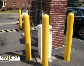 """1/4"""" Bumper Post Sleeves At Parking Lot Entry"""