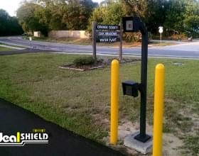"1/4"" Bollard Cover Parking Lot Entrance"