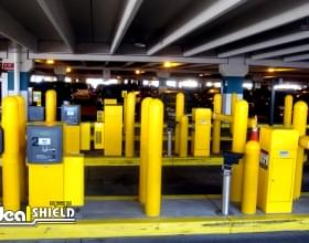 """Parking Garage Entrance With 1/4"""" Bollard Covers"""