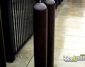 "Gated Parking Entry With 1/4"" Bollard Covers Black"