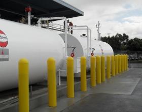"1/8"" Yellow Bollard Cover Gas Tank Protection"