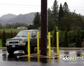 "1/8"" Bollard Cover Parking Lot"