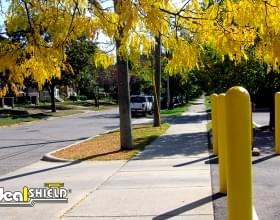 "1/8"" Bollard Sleeves Parking Lot Protection"