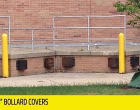"Yellow 1/8"" Bollard Covers"