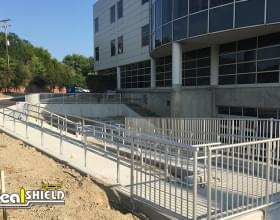 Aluminum Handrail System For Handicap Building Access